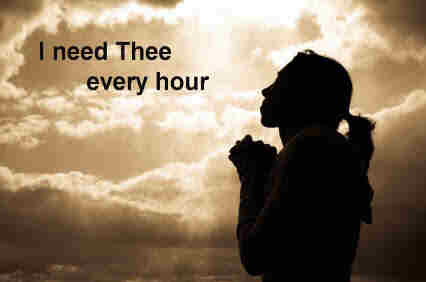I need thee every hour most gracious