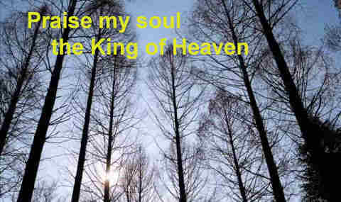 Let us praise the King of heaven To his