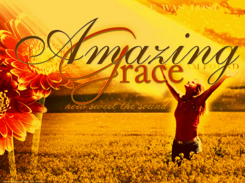 Amazing grace how sweet the sound That saved a