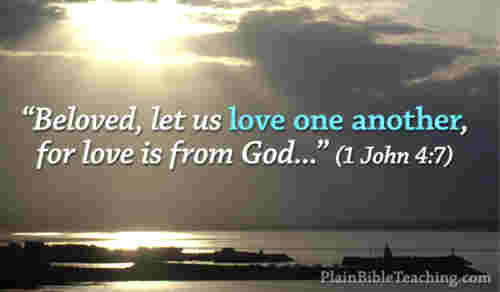Beloved let us love love is of God In