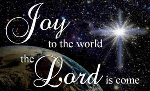Joy to the world the Lord is come Let earth