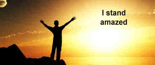 I stand amazed in the presence of Jesus