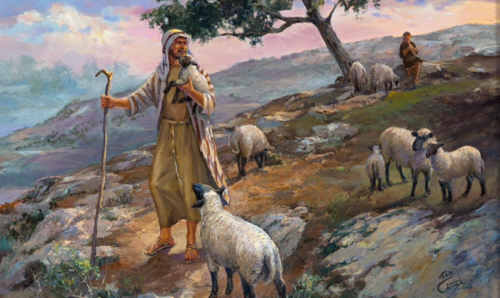 Saviour like a shepherd lead us Much we need Thy