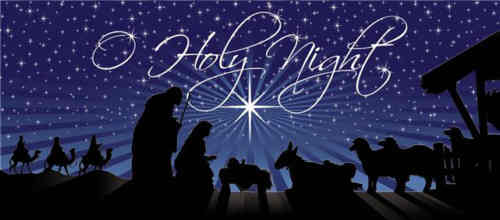 O holy night the stars are brightly