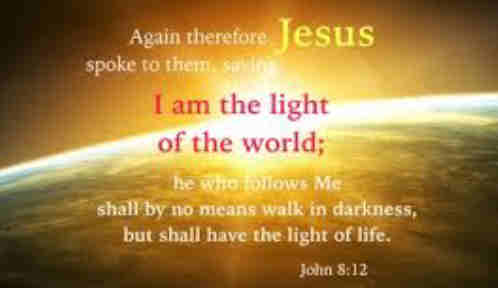 Light of the world Thy beams I bless