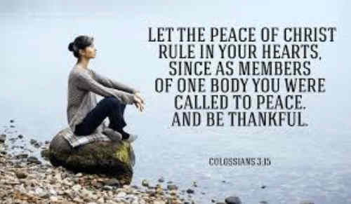 We bless Thee for Thy peace O God
