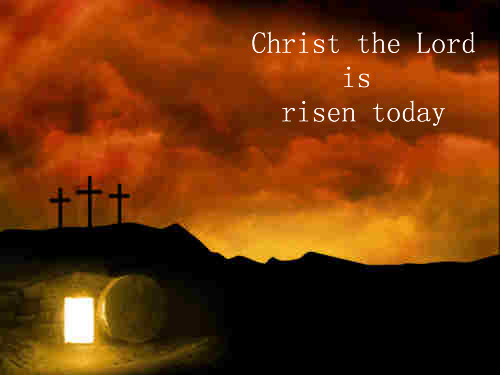 Christ the Lord is risen today sons of men and