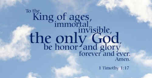 God eternal mighty King Unto Thee our