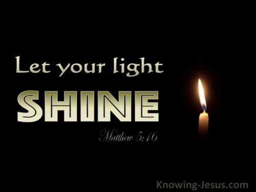 God make my life a little light Within