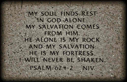 My spirit looks to God alone My rock and refuge is