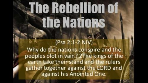 Why did the nations join to slay The Lord