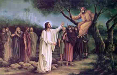 Zaccheus climbed the tree And thought