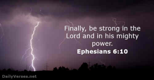Be ye strong in the Lord