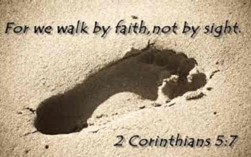 It is by faith in joys to come We walk through