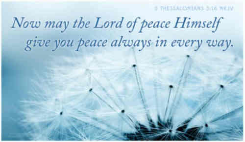 With the sweet word of peace We bid our