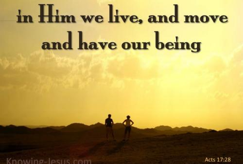 O God in whom we live and move Thy love