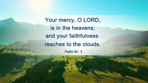Thy mercy Lord is in the heavens