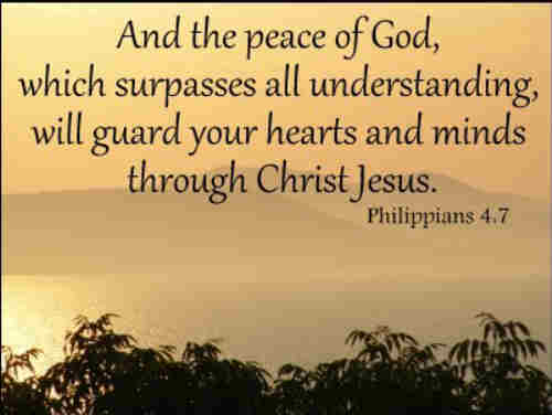The peace which God alone reveals And by