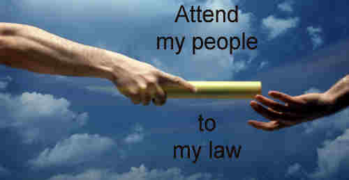 Attend my people to my law thereto give