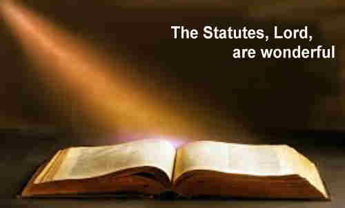 Thy statutes Lord are wonderful my soul