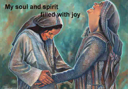 My soul and spirit filled with joy my
