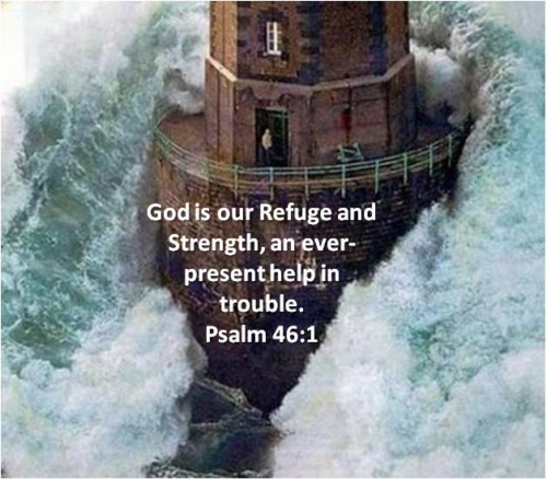 God is our refuge in distress a present