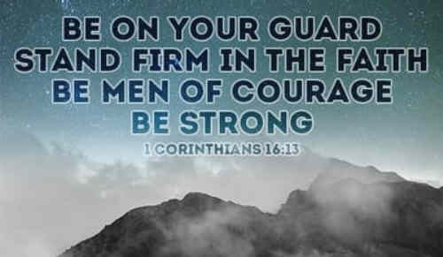 Courage ye servants of the Lord The